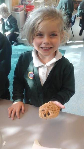We had fun making the hedgehog bread.