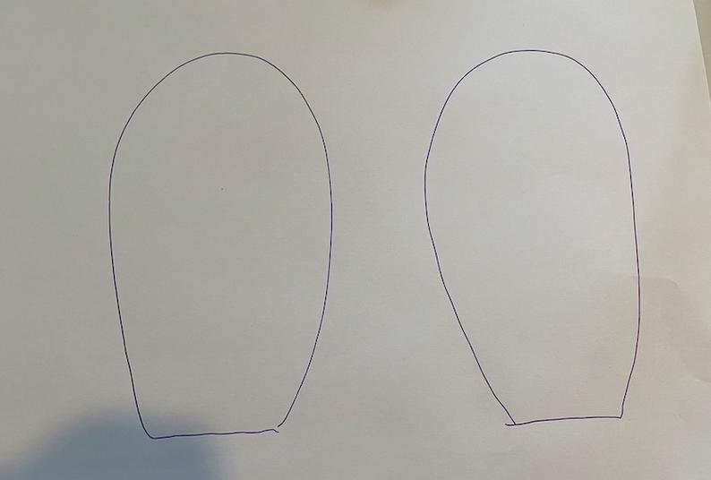 draw 2 big ears