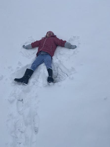 Ebonies snow angel