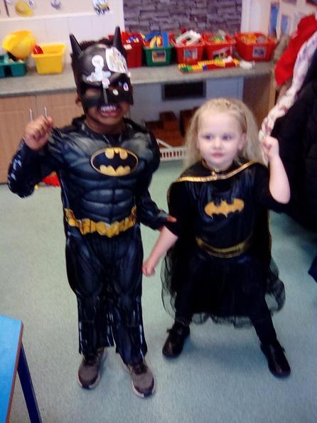 Bat girl and bat man
