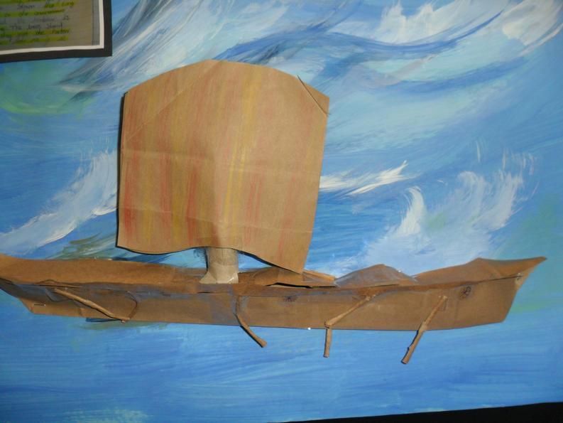 Ryan made a fantastic Anglo Saxon ship