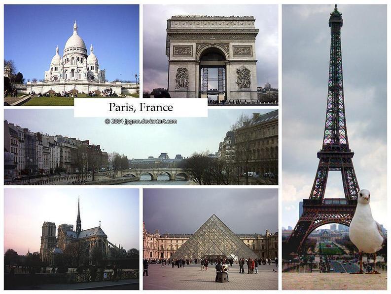 Sacre-Couer, Arc De Triomphe, Eiffel Tower, Notre-Dame, Louvre