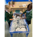 Find the letters in the shaving foam, can you spell a cvc word?
