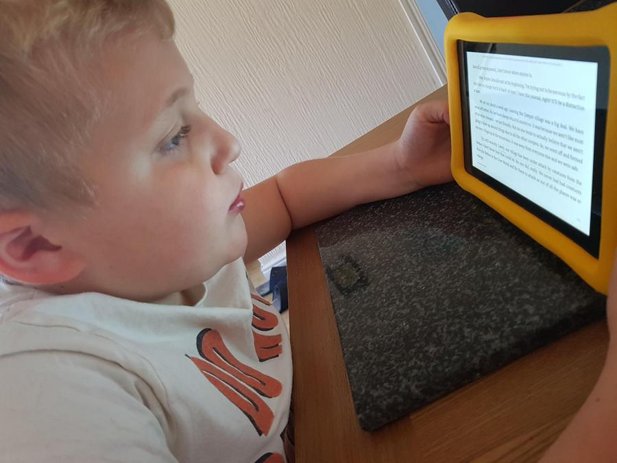 Kajus reading a good story