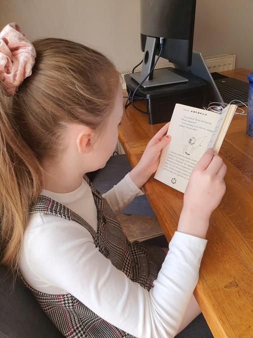 Enjoying a good book