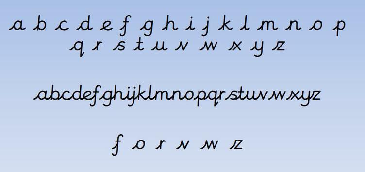 Unjoined & Joined Cursive Script