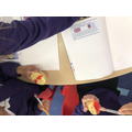 Year 1- used potato printing to design their own flags!