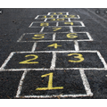 Hopscotch - what number is one more? One less?