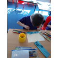 Week Two-Year 1 & 2- This week we used water colours to paint Monet's Pourville beach pai