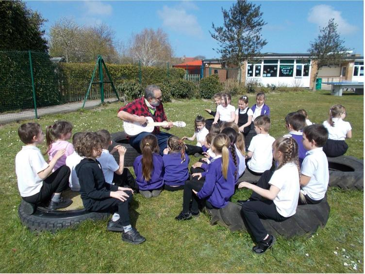 Mr Syed's music lesson