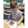Year 4 experimenting with print making