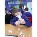 This half term KS1 designed, made and evaluated finger puppets.