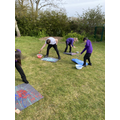 Year 5 and 6- splatter and bubble art to prepare for graphic art next week.