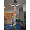 I told you our totem pole would reach the ceiling!