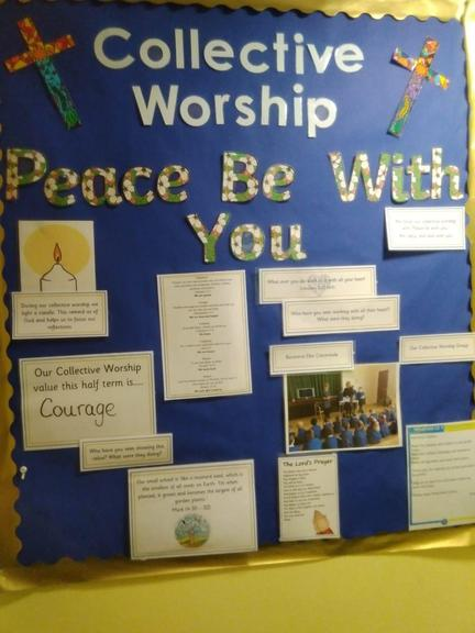 Our Collective Worship display