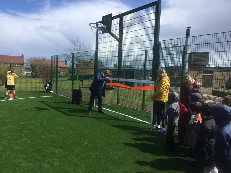 Opening our new Multi Use Games Area (MUGA) 2021