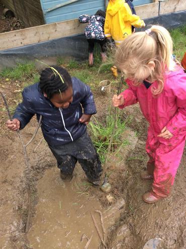Forest School - mud!