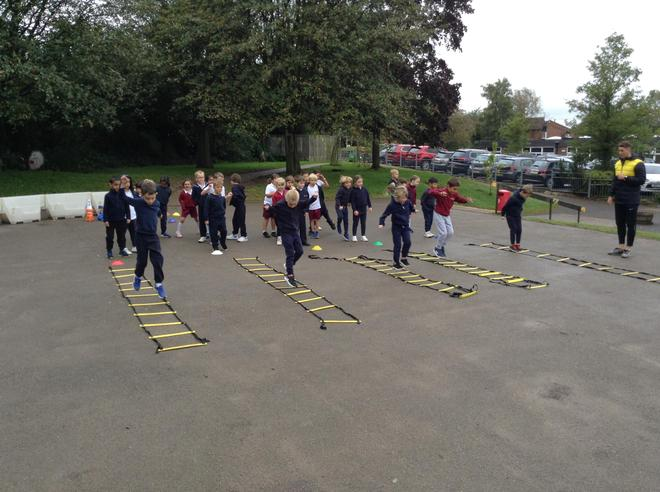 Ladder relays in P.E.