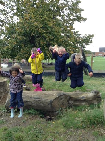 Thumbs up if you enjoy Forest School!