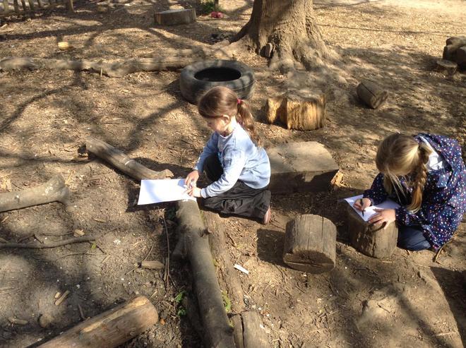 Forest School - rubbings