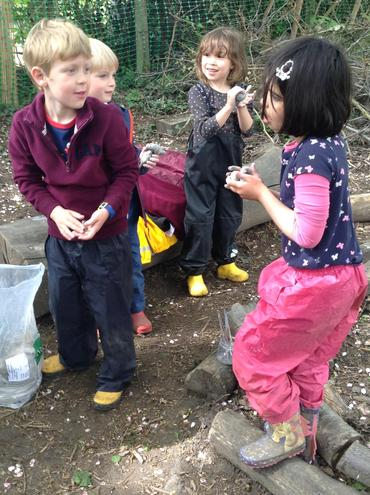 Forest School - using clay