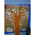 We have a reward tree where children add leaves when they have tried hard.