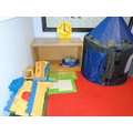 Our Role Play area is set up so the children can use their imagination.