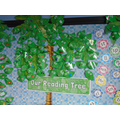 We have a reading tree with lots of Phonics sounds on.