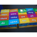 Helpful words are displayed in our reading area.