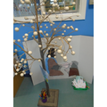 We have a prayer tree for children to add prayers to.