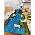 Maison made a 3D river model