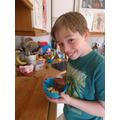 Tom has been baking