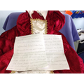 Cerys researched Tudor fashion.