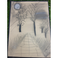 Class 5 - a background scene from the Highwayman