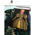 Simi created a Tudor lady in costume...