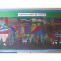 Class 6 made pictures of the Northern Lights