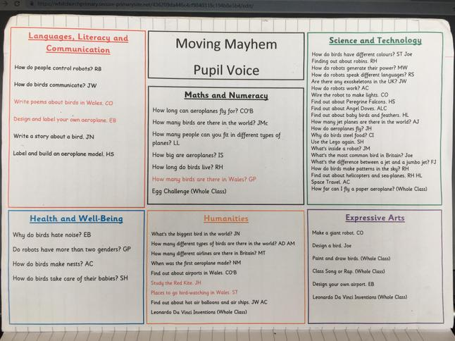 Our Pupil Voice Planning Sheet