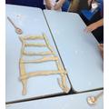 In history we created Greek pillars using dough.