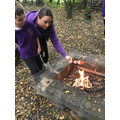 In Outdoor Learning the children made Greek Kebabs.