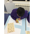 The children loved writing the Greek alphabet using feathers and black paint.