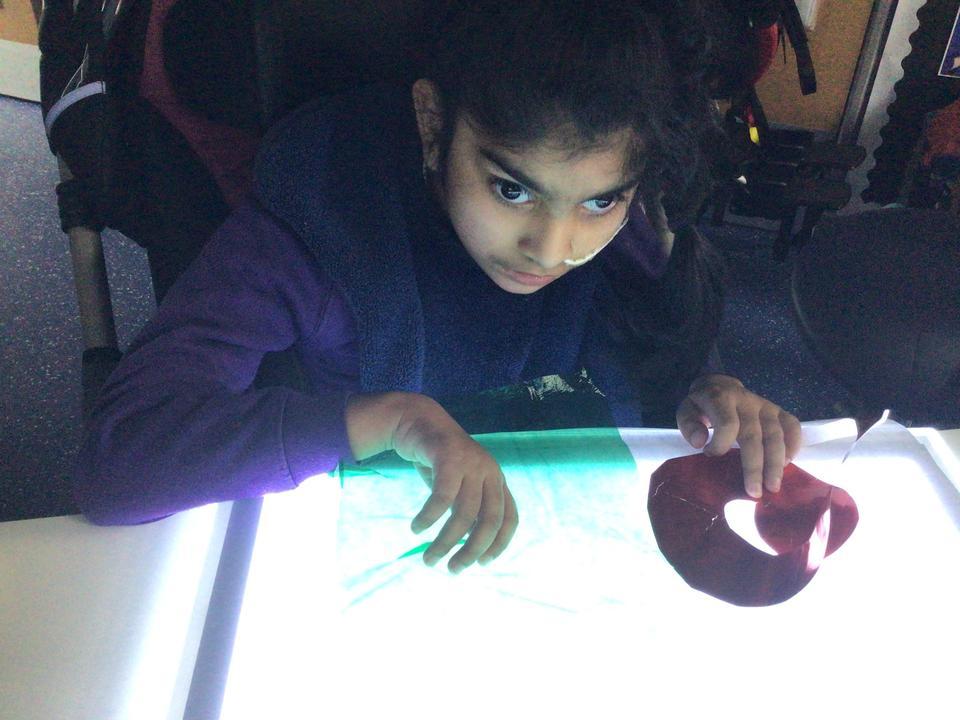 Using the lightbox to create artwork