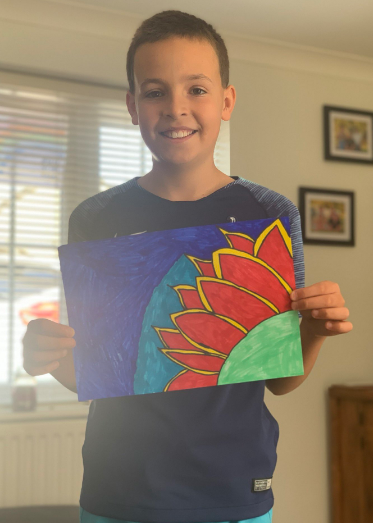 Ollie's Van Gogh interpretation