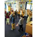 Practising yoga with Mrs Burley