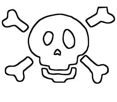 skull and crossbone stencil