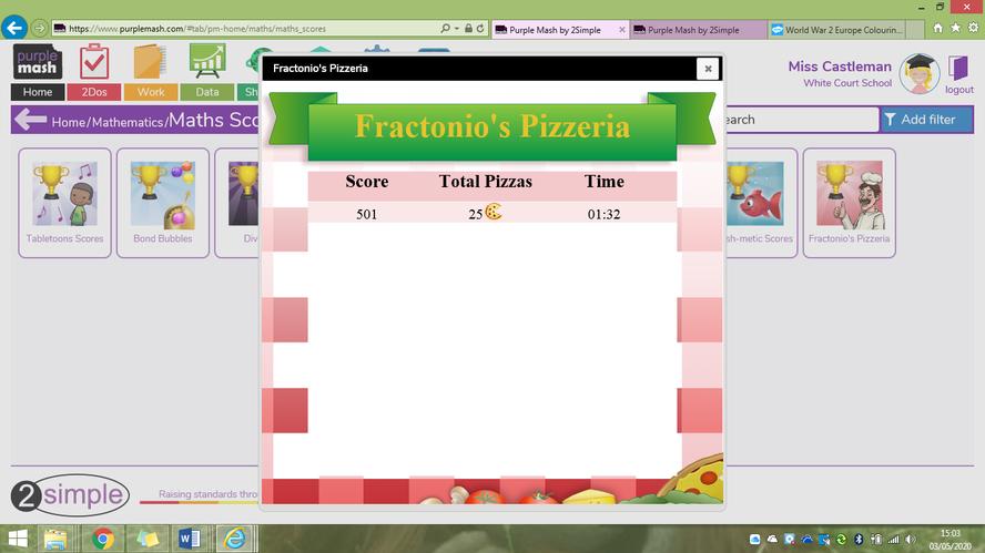 'Fractonio's Pizzeria' results