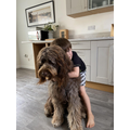 Harrison and his dog Pippa.