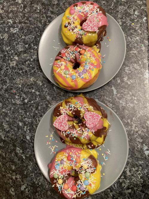 Home decorated birthday doughnuts