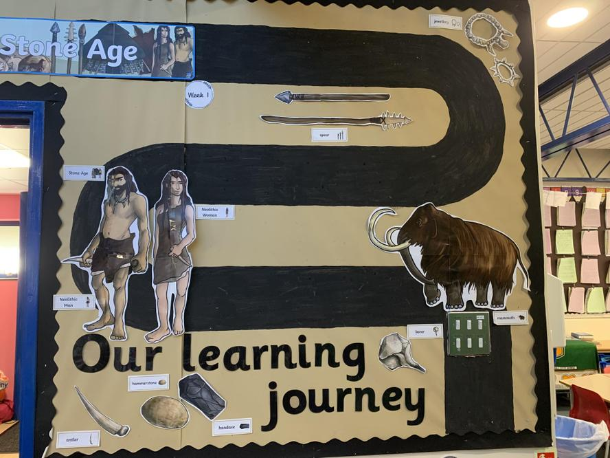 Year 3 are learning about the Stone Age.