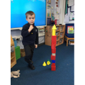 Build a tower with 3D shapes