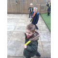 Yellow Running Club prepare for a race